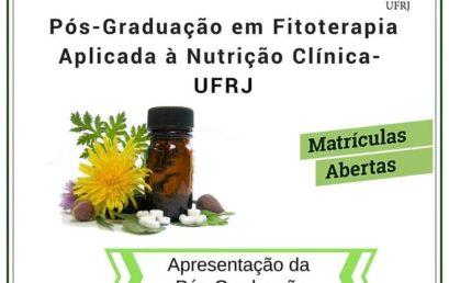 Matrículas Abertas! Curso de pós-graduação em Fitoterapia Aplicada à Nutrição Clínica