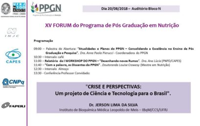 XV FORUM do PPGN/UFRJ