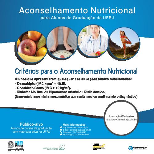 Aconselhamento Nutricional para alunos dos Cursos  de Graduação da UFRJ – LANUTRI