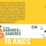 Convite Evento Saberes & Sabores 2018