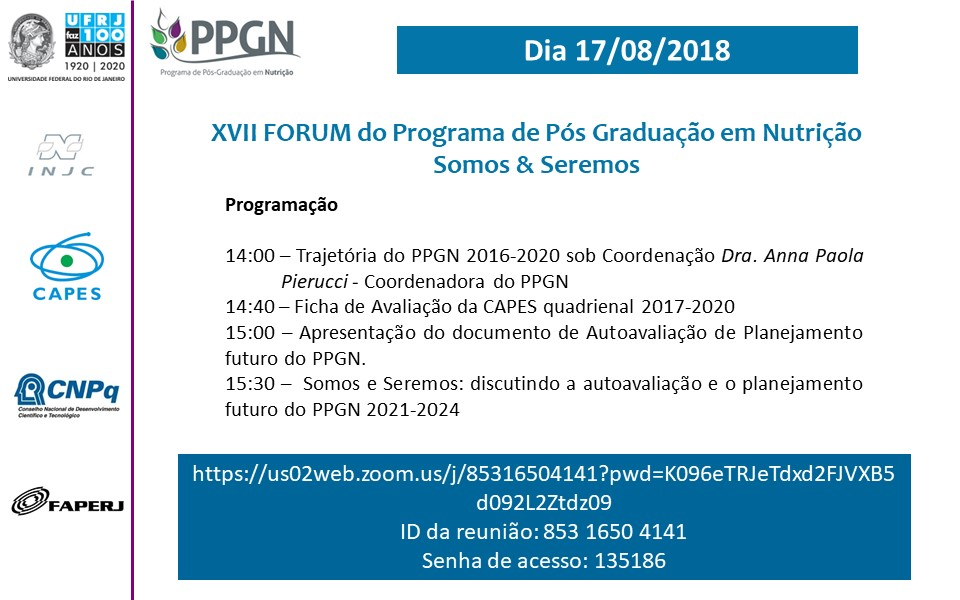 XVII Fórum do PPGN