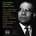 5 de Setembro: Aniversário Josué de Castro