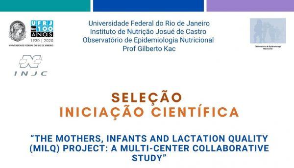 Seleção de Iniciação Científica – Projeto MILQ