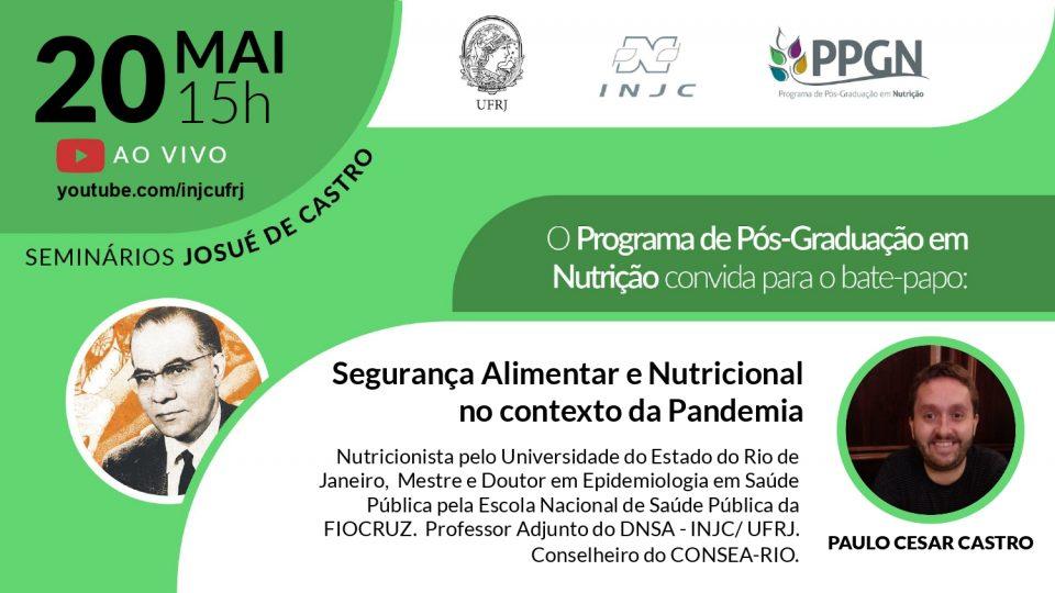 Seminário: Segurança Alimentar e Nutricional no contexto da Pandemia