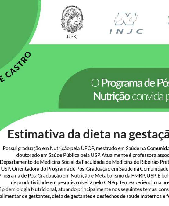 Seminário: Estimativa da dieta na gestação