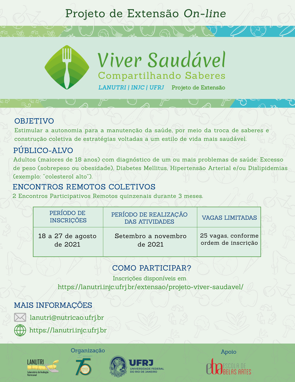 Projeto de Extensão LANUTRI/INJC/UFRJ – Viver Saudável: compartilhando saberes