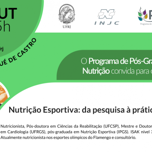 """Seminário: """"Nutrição Esportiva: da pesquisa à prática"""""""